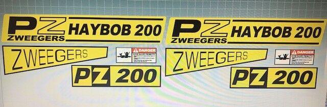 decals PZ Haybob 200 stickers