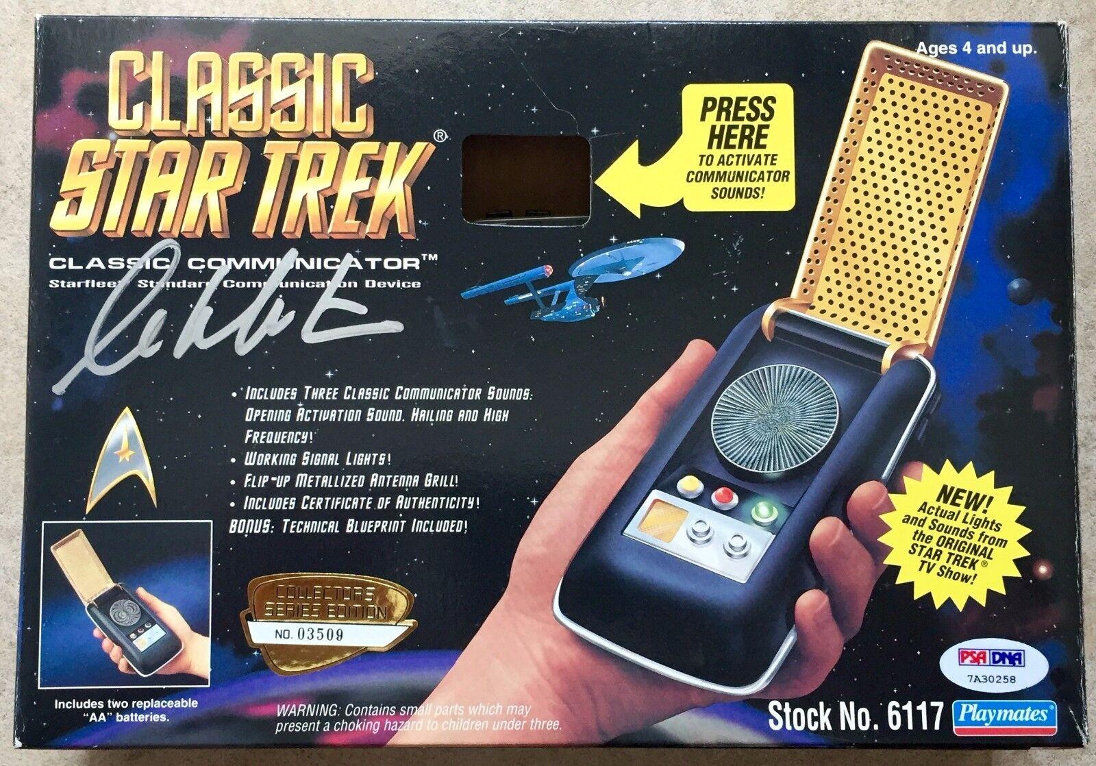 William Shatner Signed Star Trek Playmates Classic Communicator PSA/DNA COA (A)