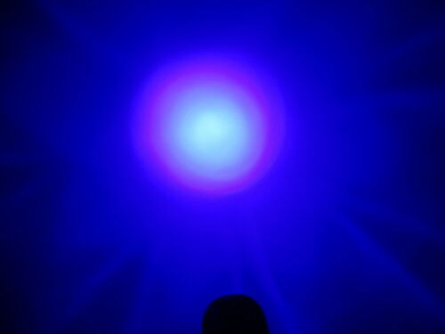 9 LED 460nm Blaulicht LED Taschenlampe Jagd Nachtsicht Blaue Lampe Taschenlampe