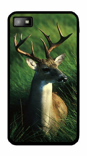 White-Tailed Buck / Deer BlackBerry Z10 RUBBER Case Cover CLEARANCE
