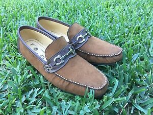 luxury real leather dress shoes moccasin loafer casual