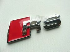 RED SILVER METAL RS BADGE AUDI RS3 RS4 RS5 RS6 RS7 S-LINE A1 A3 A4 A5 S3 S4 S5