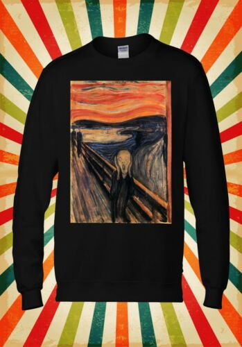 The Scream Edvard Munch Painting Art Men Women Unisex Top Hoodie Sweatshirt 1715