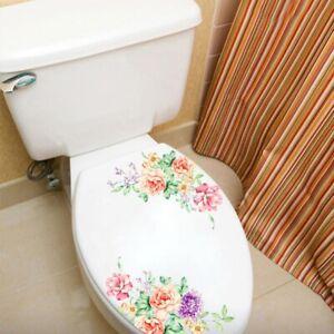 WC-Toilette-Blumen-Wandsticker-Wandtattoo-Wandaufkleber-Sticker-Deko-Aufkleber