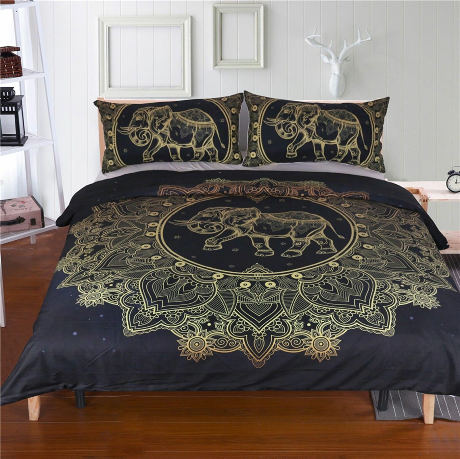 3D Datura Elephant 41 Bed Pillowcases Quilt Duvet Cover Set Single Queen King AU