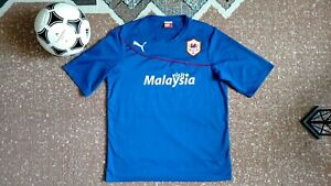 CARDIFF CITY 2013-2014 PUMA AWAY FOOTBALL SOCCER SHIRT JERSEY L