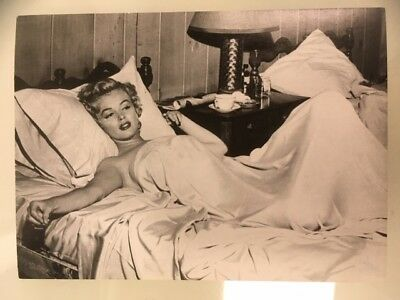 Marilyn Monroe Reading in Bed Post Card New