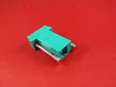 Console Cisco RJ45 to DB9 Female Adapter Green. PC Serial