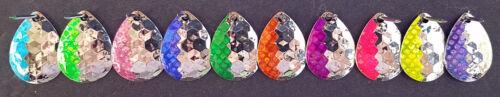 10 Walleye Candy  Colorado Spinner Blades #3.5  Nickel Hex   10 colors