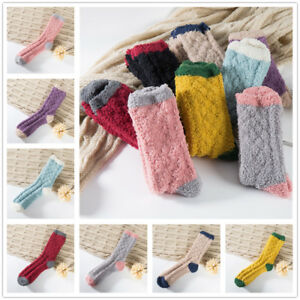 1-Pair-Women-Multi-Colors-Coral-Fleece-Fuzzy-Cozy-Socks-Winter-Warm-Sleep-Socks