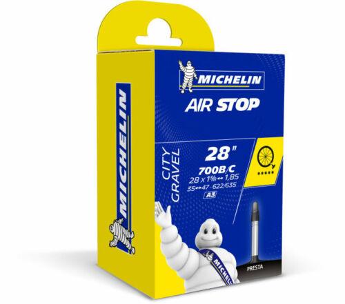 """SET 2x Michelin Schlauch Rennrad Trekking//City 28/"""" AIRSTOP A3 NEU"""