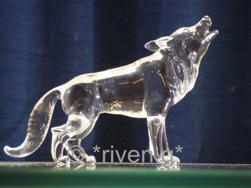 WOLF Figurine@CRYSTAL Glass BEAST@UNIQUE Collectable Gift@Wild DOG Family@WOLVES