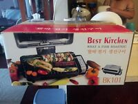 Multi-Function Top & Bottom Cooker, Electric Roaster & Indoor Grill w/ Cooktop