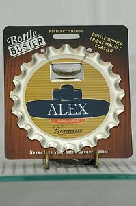 BOTTLE BUSTER ALEX~COASTER~FRIDGE MAGNET~BOTTLE OPENER~NEW~FREE US SHIP~