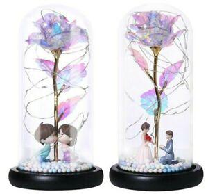 Rose-Eternelle-Fleurs-Sechees-Decoration-a-LED-Cadeau-Mariage-Amour-Fete-de-Noel