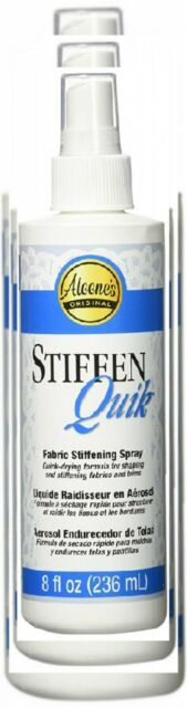 Aleene's 15581 Stiffen-Quick Fabric Stiffening Spray, 8-Ounce 1 pack