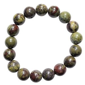 CHARGED-Dragon-039-s-Blood-Jasper-12mm-Bead-Bracelet-Tumble-Polished-Stretchy-REIKI