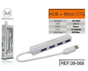 Moltiplicatore USB Hub 4 PORTE per PC Computer SPLITTER Adattatore 2.0 Notebook