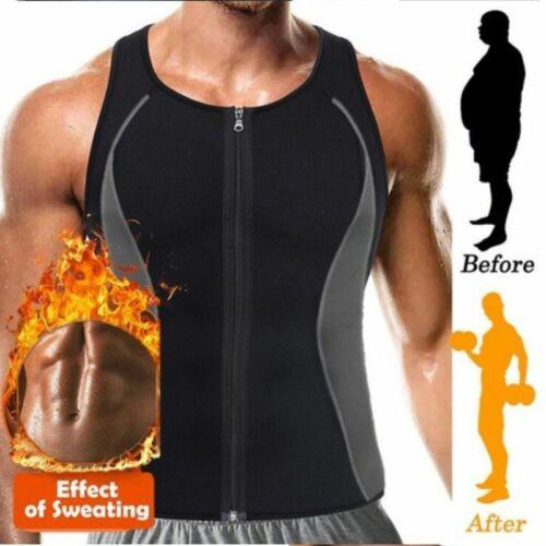 Hot Mens Gym Weight Loss Workout Neoprene Body Shaper Sweat Sauna Suit Vest