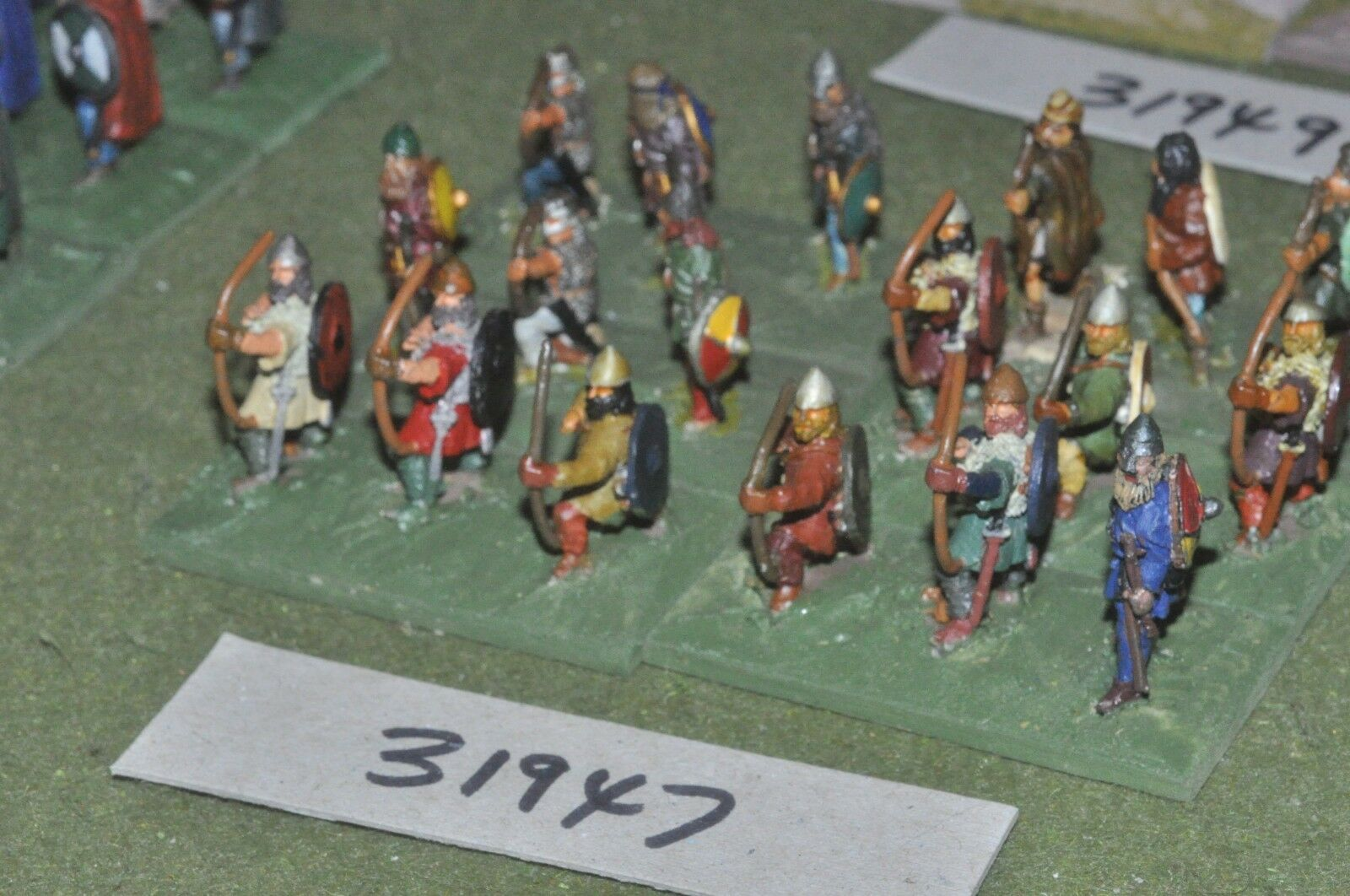 25mm dark ages   viking - archers 18 figures - inf (31947)