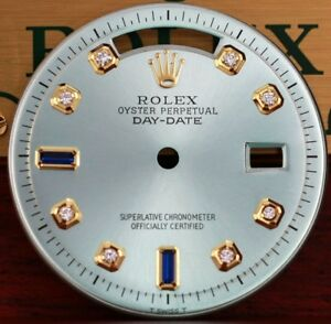 New-Custom-Light-Green-Genuine-Diamond-Dial-To-Fit-Rolex-Day-date-36mm