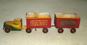 "1930'S BUDDY L CURTISS CANDIES TANDEM TRAILER TRUCK-39""-BABY RUTH BUTTERFINGER"