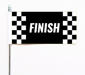 Finish Race Racing Check Checkered Ultimate Table Flag