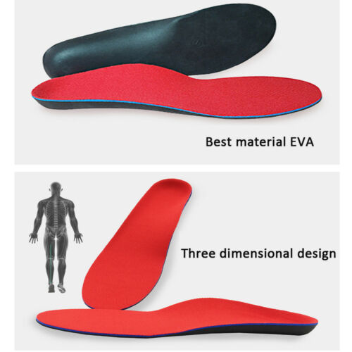 Orthotic Shoe Insoles Flat Feet Foot High Arch Heel Support Inserts Pads Relief
