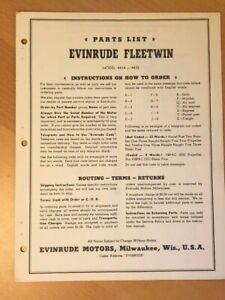 1950-Evinrude-Fleetwin-4434-4435-Outboard-Motor-Parts-Catalog-Manual