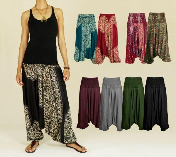 * Una Mayor * Pantalón Cagado Pump Pantalones Aladinhose Pluderhose Boho Goa Yoga Hippie-ver