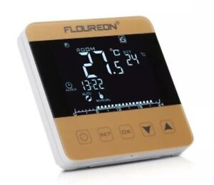 FLOUREON chauffage électrique Thermostat LCD Contrôleur De Température or HY08WE-3