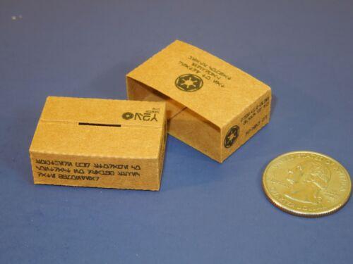 3 Easy Fold 1//12 échelle Galactique Empire ration boxes et Manches pour Star Wars