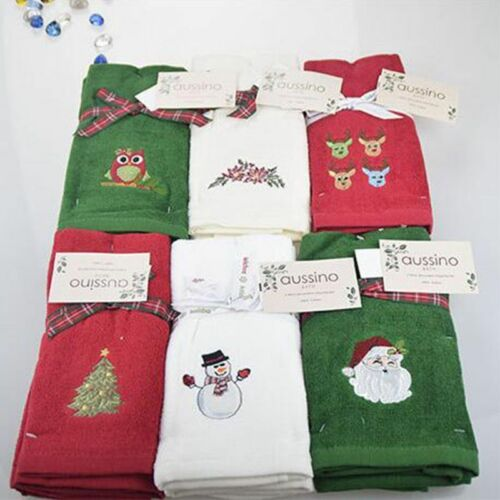 Luxury Hand Towel Set New Decorative Christmas Gift Embroidered Hand Face Towels