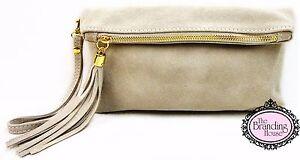 ladies-stone-suede-tassel-clutch-bag