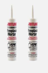 2 Rutland Gray FIREPLACE MORTAR Tube Repair Cracked /& Chipped Firebrick 63G New