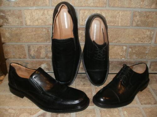 New Johnston Murphy Tabor Black Calfskin Select Cap Toe Oxford or SlipOn// Loafer