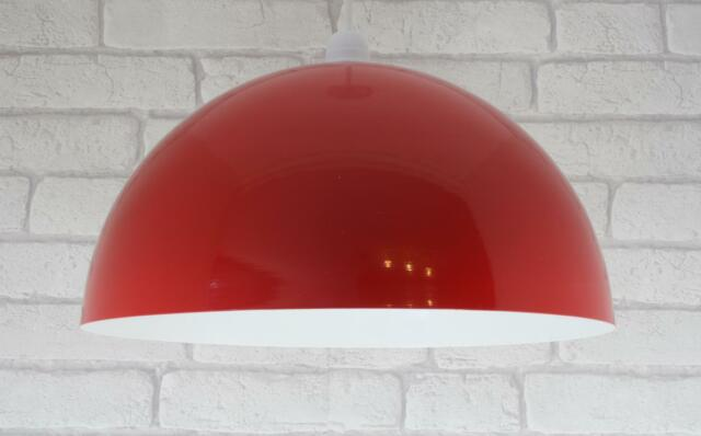 Red Lampshade Retro Metal Dome Ceiling Light Lamp Shade Large 35cm