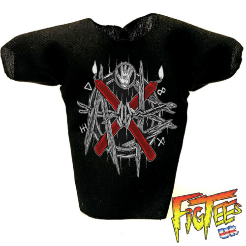 "Aleister Nero 7/"" Elite Di Base Retrò wrestling action figure T-shirt"