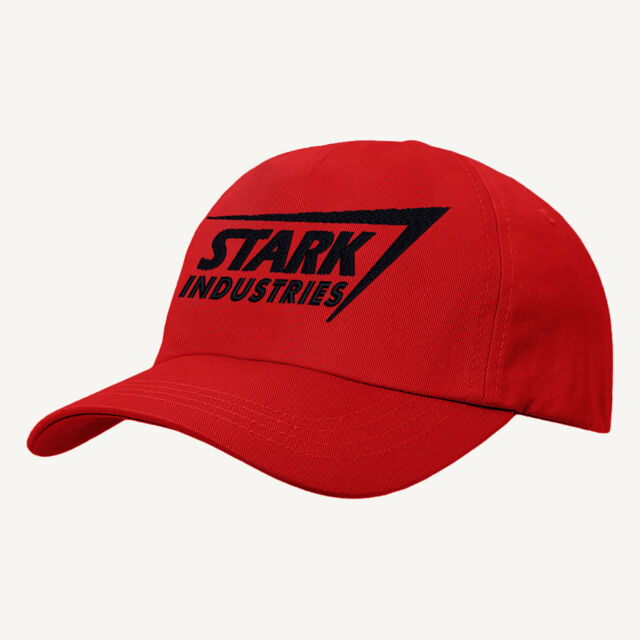 0b22eb58f Iron man Baseball Cap,Stark Industries Text Hat,Embroidered Design