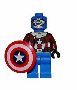 .LEGO Marvel Super Heroes Pilot Captain America Minifigure From Set 76076 D14