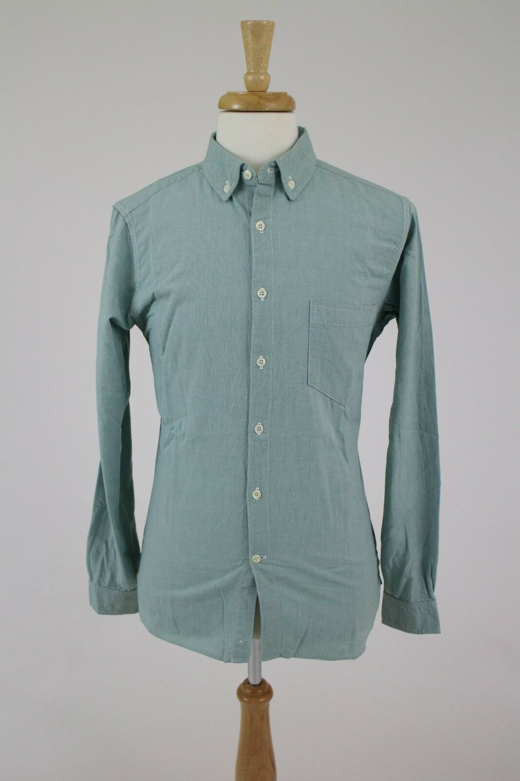 New Freemans Sporting Club Green Oxford Long Sleeve Casual Cotton Shirt