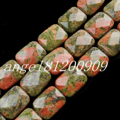 13Pcs 16x13x6mm Interesting Faceted Mixed Stone Oblong loose bead x80047