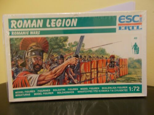 Boxed ESCI//ERTL P-224 Romanic Wars ROMAN LEGION 40 Figures Scale 1:72 Models