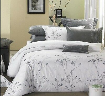 New Luxury White Silver Branches 3pcs Duvet Cover Set