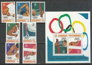 Dominica - Mail 1976 Yvert 471 / 7+ Hb 36 MNH Olympics Montreal