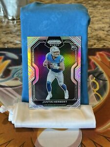 justin herbert Los Angeles Chargers Prizm Black Silver Holo Rookie 2020 Card Sp