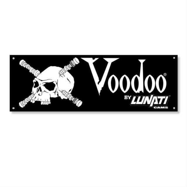 Lunati Cams Voodoo Logo Vinyl Banner White Lettering Black Background Voo Doo For Sale Online Ebay