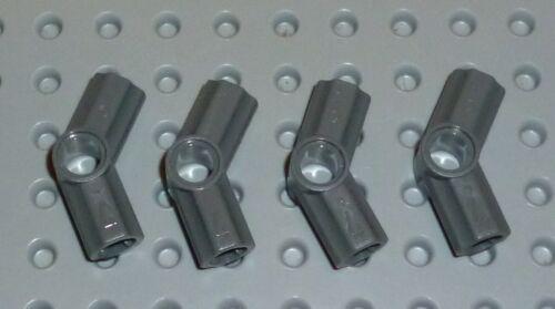 TECHNIC TK235 32192 AXLE /& PIN CONNECTORS ANGLED #4 DARK BLUISH GREY x4 LEGO