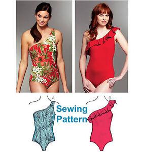 Kwik Sew K3608 Pattern Misses Strapless Swimsuits XS-XL BN
