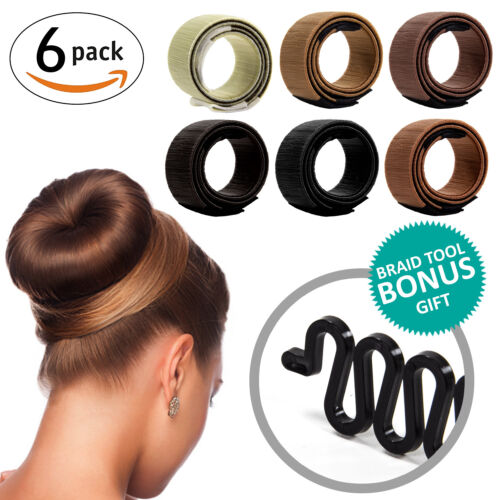Magic DYI Hair Bun Maker for Girls BONUS Fishtail Braid Tool